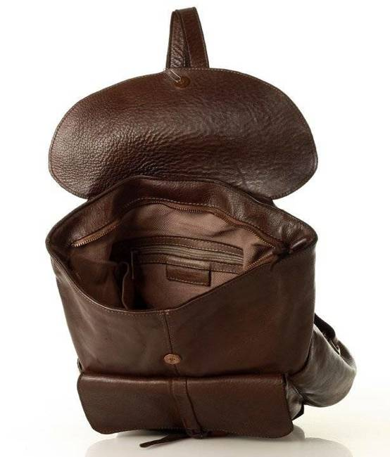 Plecak damski brązowy MARCO MAZZINI V159c