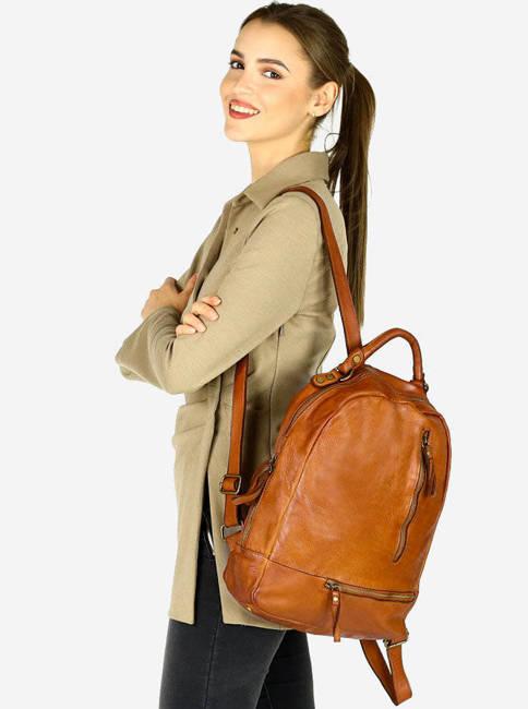 Plecak damski camel Marco Mazzini  v78a