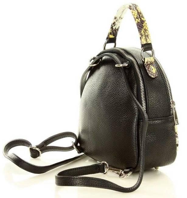 Plecak damski czarna  z żółtym MARCO MAZZINI pl48b