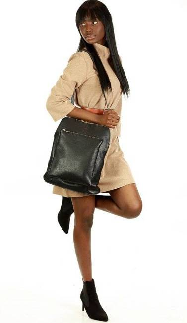 Plecak damski czarny MARCO MAZZINI Pl49a