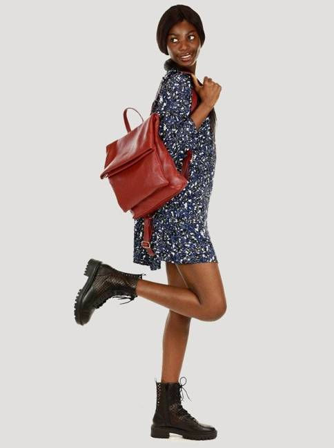 Plecak damski czerwony MARCO MAZZINI PL60b