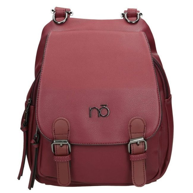 Plecak damski miejski czerwony NOBO NBAG-H0320-C005
