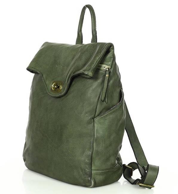 Plecak damski zieleń MARCO MAZZINI v71b