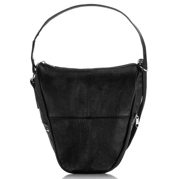Plecak skórzany torebka damska 2w1 Paolo Peruzzi B-09 czarny