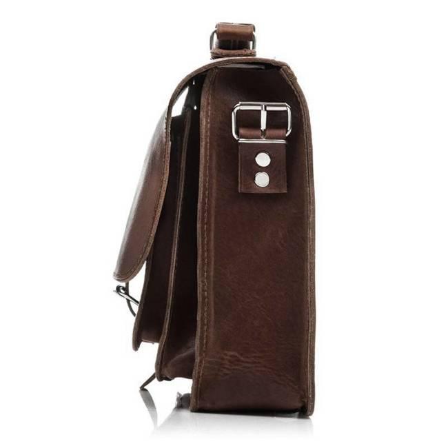 Plecak torba 2w1 skórzany Paolo Peruzzi S-12 c.brąz
