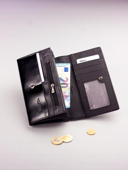 Pojemny portfel damski czarny PX27-2