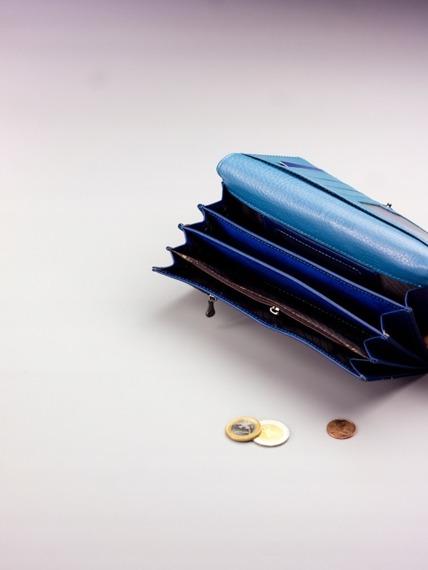 Pojemny portfel damski niebieski PX27-2