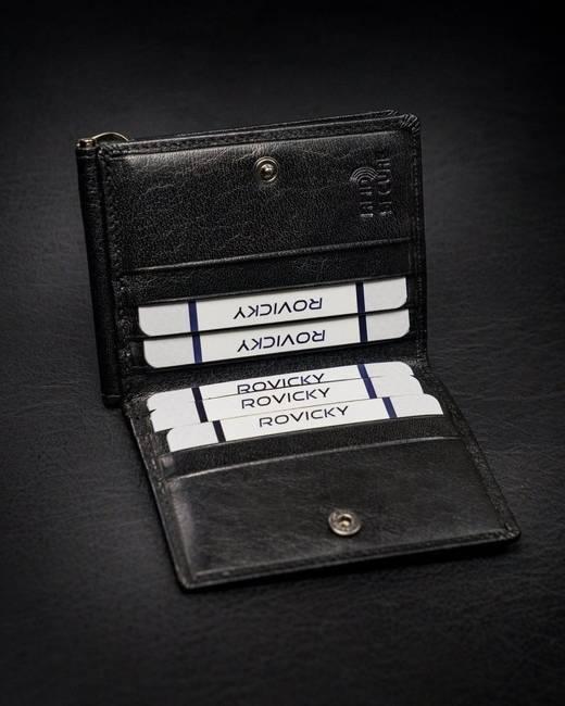 Portfel czarny unisex Rovicky CPR-034-BAR-6620 BLA