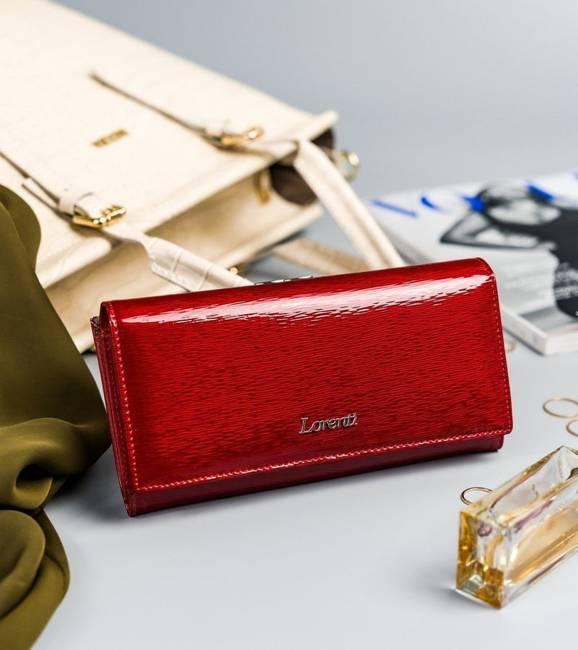 Portfel czerwony Lorenti 72031-SH NAPIS RED