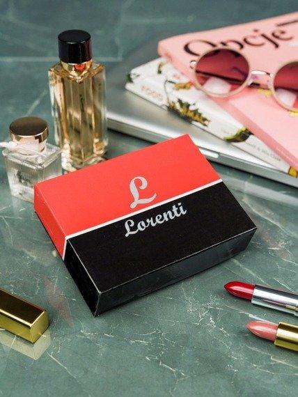 Portfel damski Lorenti czerwono-czarny LT-02-BCF RED