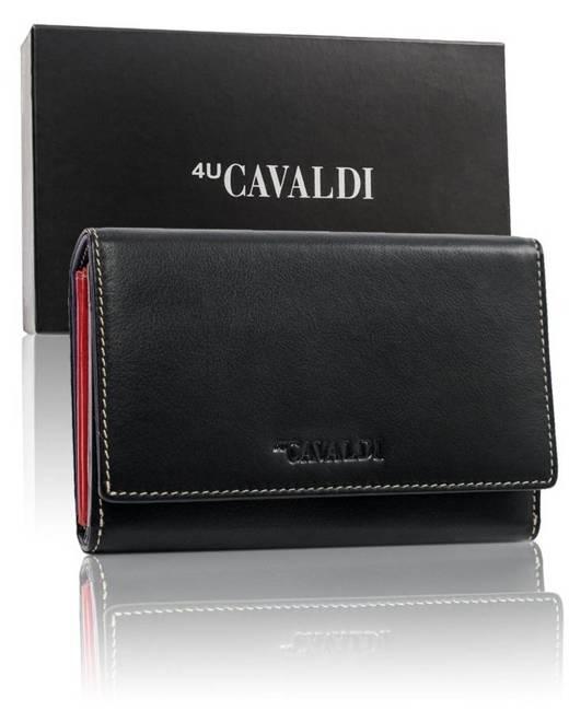 Portfel damski czarny 4U Cavaldi 57006-SPN-6347 MULTI