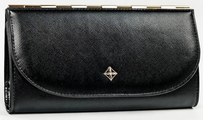 Portfel damski czarny Milano Design SF1833-SAF BLACK