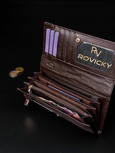 Portfel damski czarny Rovicky 8805-JXW BLACK