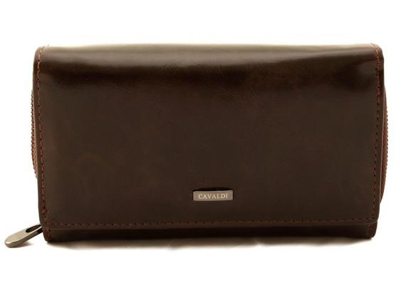 Portfel damski czekoladowy Loren  #WP02 BROWN