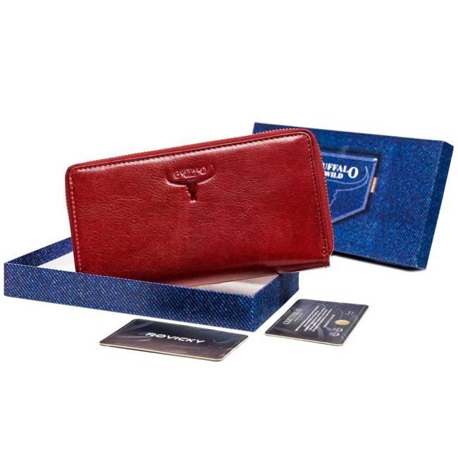 Portfel damski czerwony Buffalo Wild 556-BWJ RED