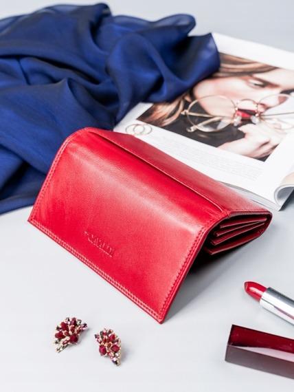 Portfel damski czerwony CAVALDI RD-07-GCL RED