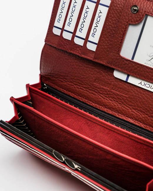 Portfel damski czerwony Cavaldi  PX24-CR-0550 RED