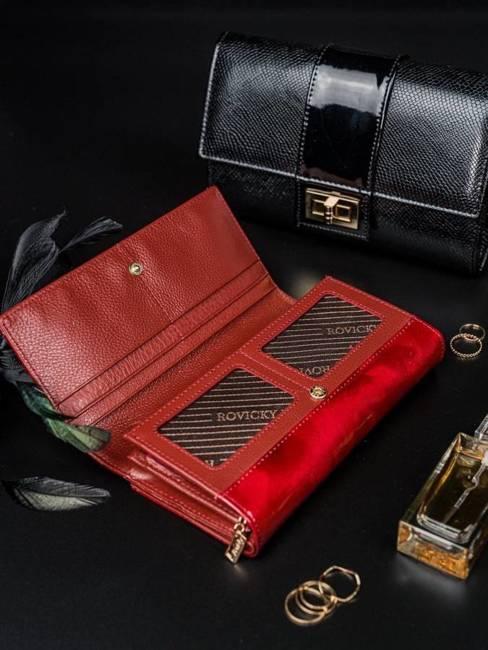 Portfel damski czerwony Rovicky 8803-YMA RED