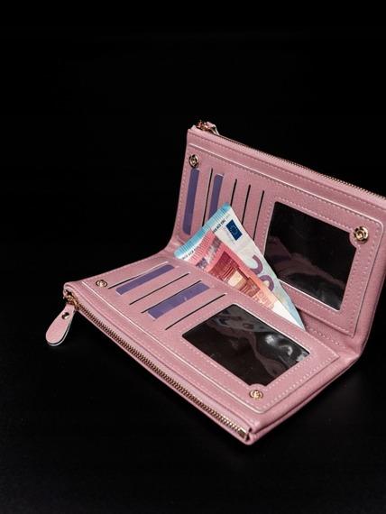 Portfel damski na zamek różowy Milano Design