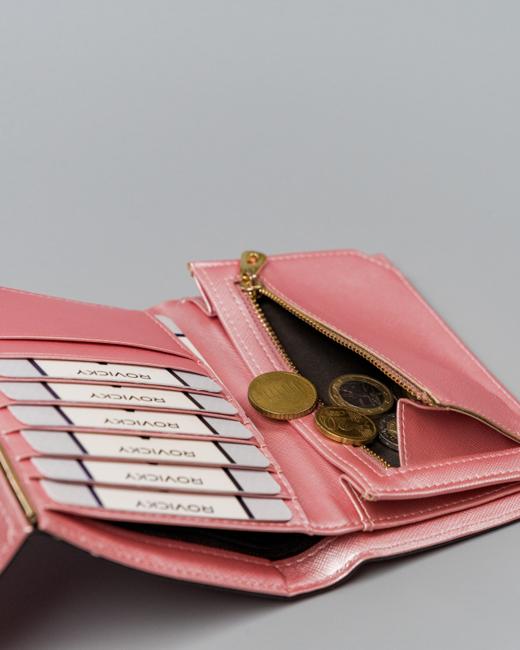 Portfel damski różowy Milano Design SF1839-SAF PINK