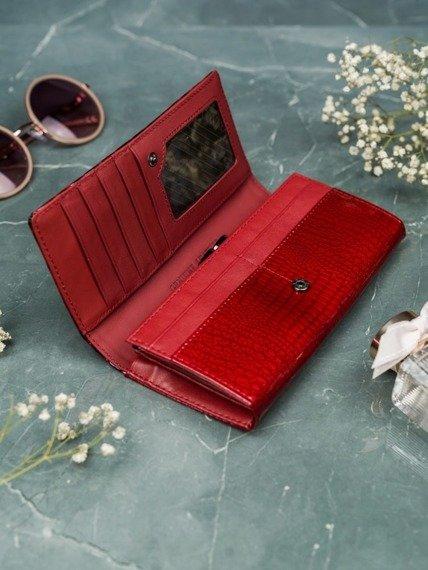 Portfel damski skórzany Cavaldi H24-1-PT czerwony