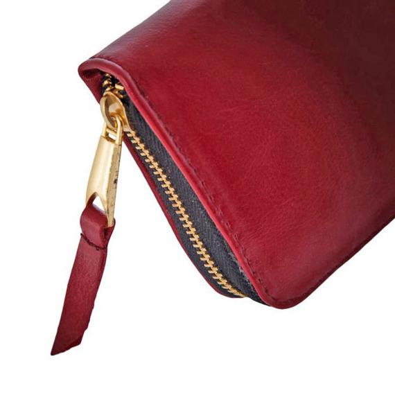 Portfel damski skórzany SOLIER P02 czerwony