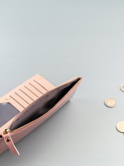 Portfel damski slim wallet różowy Milano Design K1209