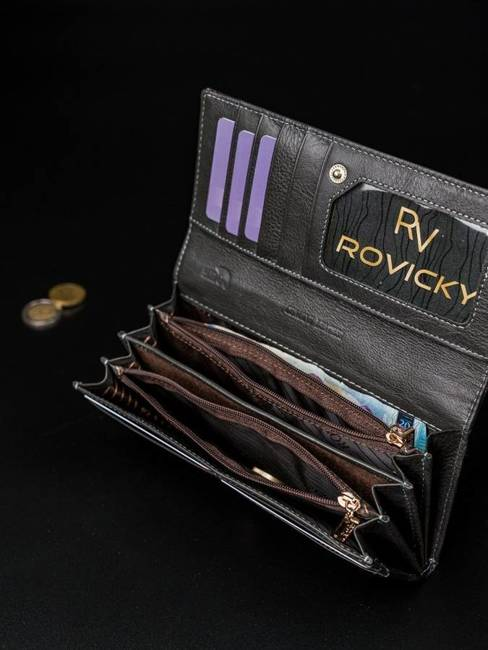 Portfel damski szary Rovicky 8802-YMA GRAY