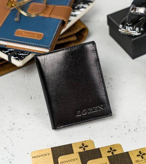 Portfel męski LOREN czarny  RM-07-BCF BLACK