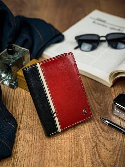 Portfel męski Rovicky 326-RBA-D BLACK-RED czarno-czerwony