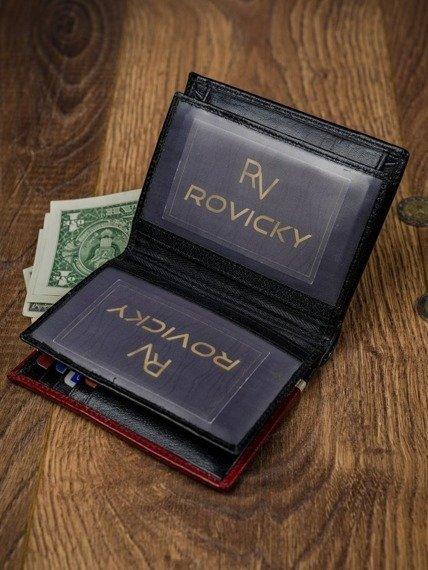 Portfel męski Rovicky 331-RBA-D BLACK-RED czarno-czerwony