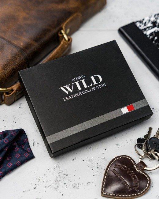 Portfel męski brązowo-beżowy Always Wild N1635-R BROWN+TAN