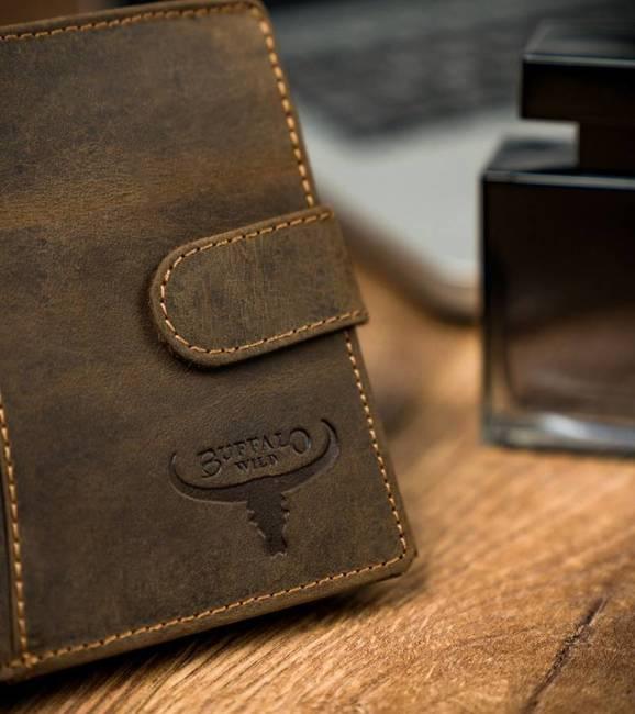 Portfel męski brązowy Buffalo Wild RM-33L-HTR D.TAN