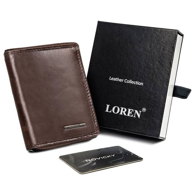 Portfel męski brązowy Loren FRM-70-01Z BROWN