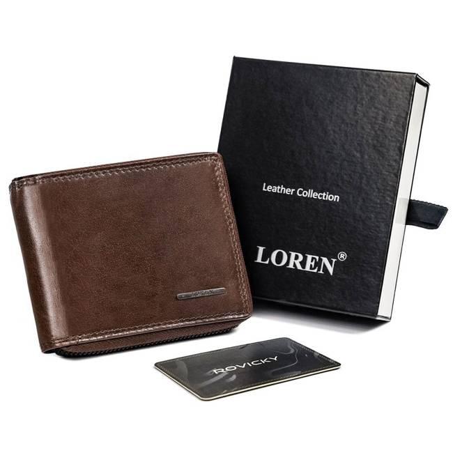 Portfel męski brązowy Loren FRM-70-02Z BROWN
