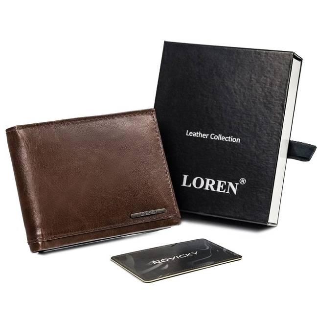Portfel męski brązowy Loren FRM-70-08 BROWN