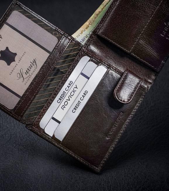 Portfel męski brązowy Rovicky CPR-021-BAR-6446 BRO