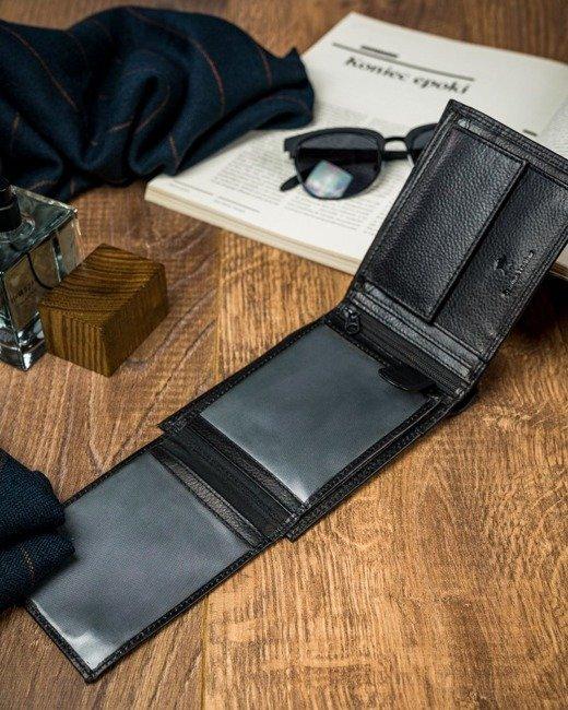 Portfel męski czarno-granatowy Cavaldi  N992-SCV BLACK+NAVY