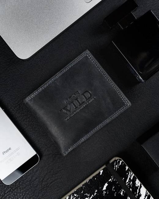 Portfel męski czarny Always Wild N0035-CHM-8694 BLACK