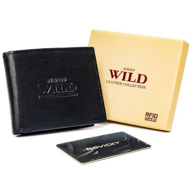 Portfel męski czarny Always Wild N0036L-SCR-3179 BL