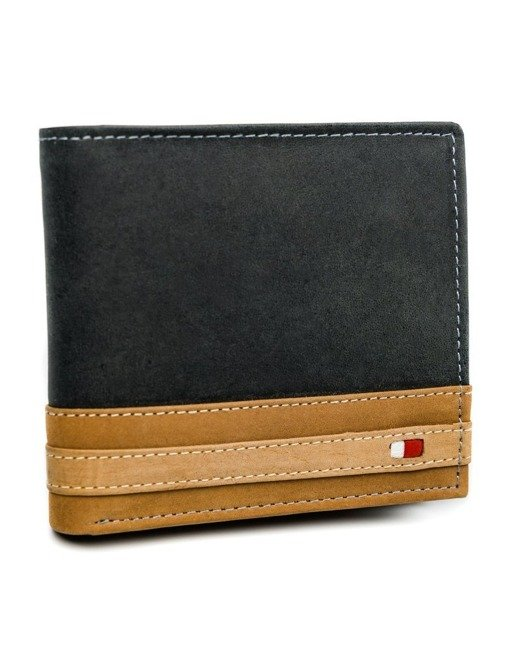 Portfel męski czarny Always Wild N01-R-RFID BLACK+TAN