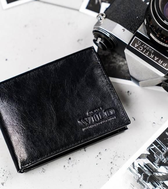Portfel męski czarny Always Wild N992-VTK-BOX-4510 BL