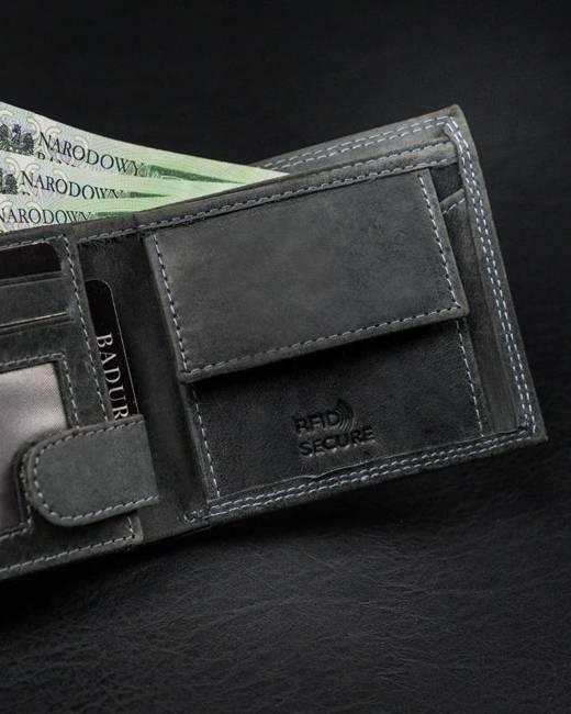 Portfel męski czarny Badura N0035-CHM-BA BLACK