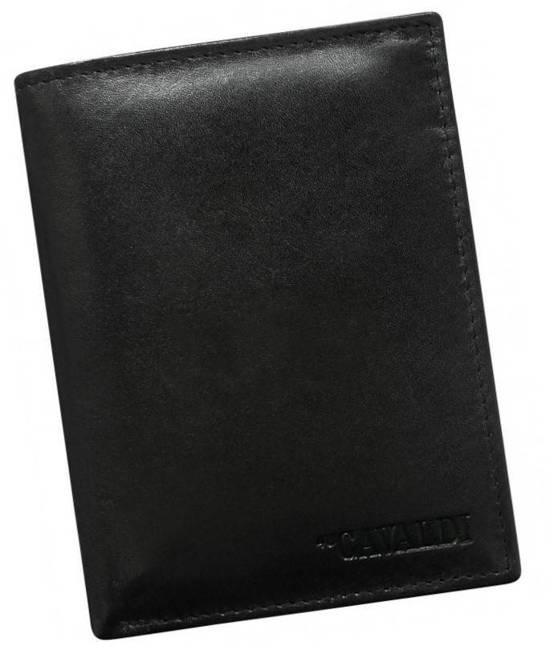 Portfel męski czarny Cavaldi N4-SCR-CAVALDI BLACK