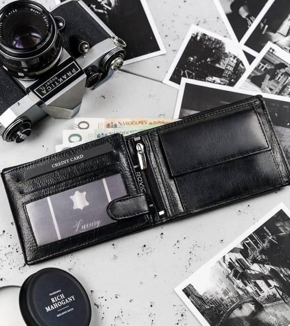 Portfel męski czarny Cavaldi N992-TP-1564 BLACK