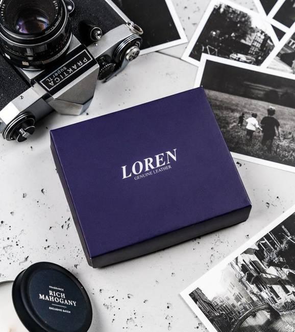 Portfel męski czarny Loren N4L-NYC-1397 BLACK