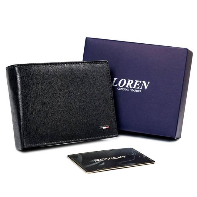Portfel męski czarny Loren N992-NYC-1403 BLACK