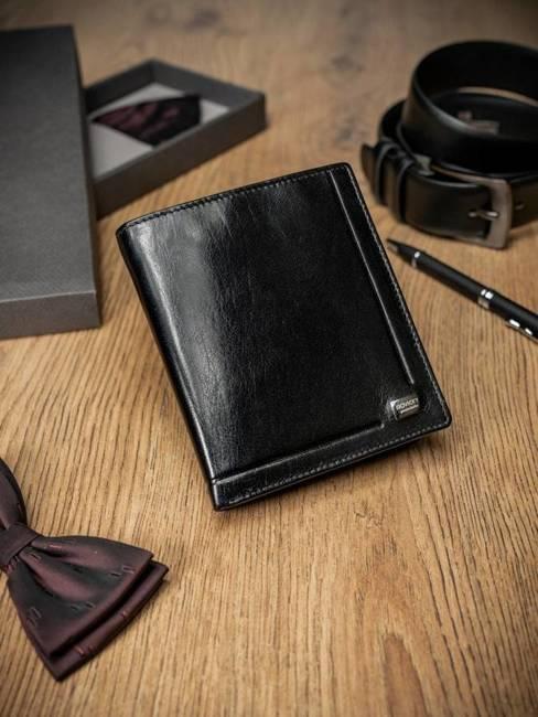 Portfel męski czarny ROVICKY PC-102-BAR BLACK