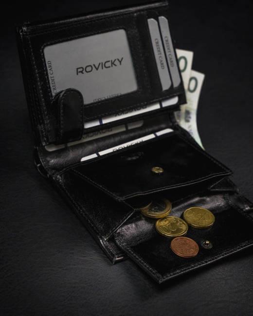 Portfel męski czarny Rovicky 1541-03-BOR-1294 BLA