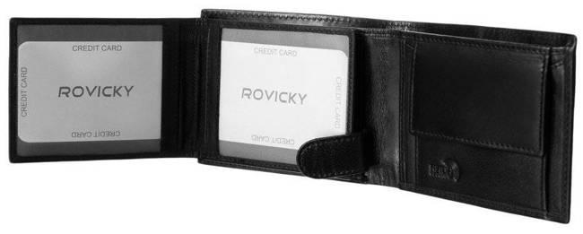 Portfel męski czarny Rovicky 323-RBA-6934 BLACK